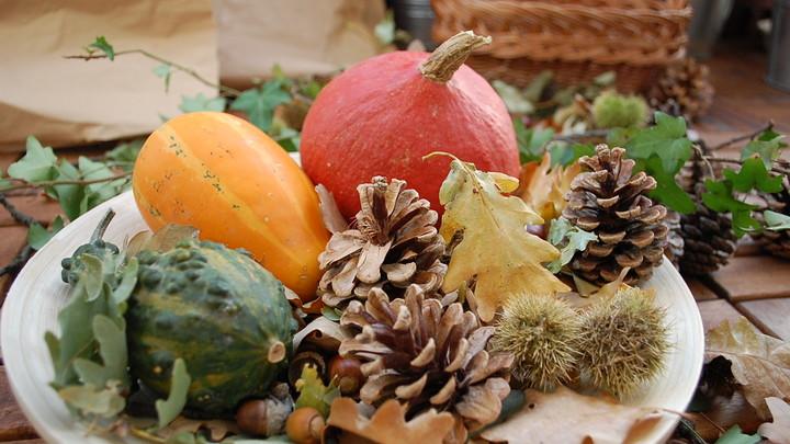Jesenná výzdoba Starej tržnice